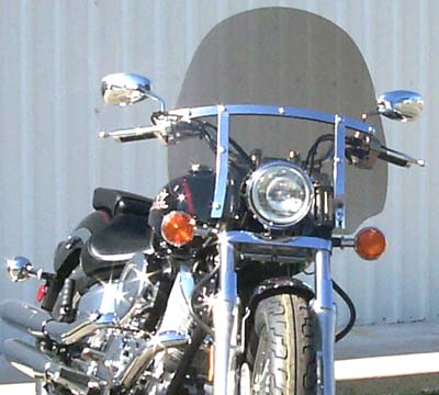 Classic Windshield for Yamaha V-Star 1100-650 Custom