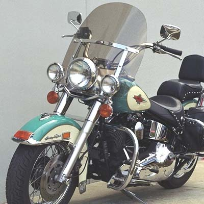 King-Size Heritage FLSTC-Fat Boy FLSTF Replacement Windshield (rigid mount)