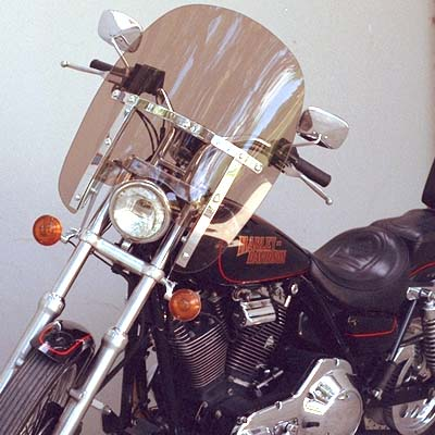 Compact Replacement Windshield for Narrow Glide (FXD-FXR-XL) (rigid mount)