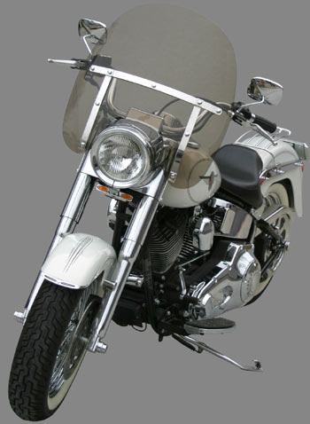 Classic II Windshield H-D Fat Boy-Special-Heritage with nacelle headlight accesory  (FLSTF-FLSTN-FLSTC)