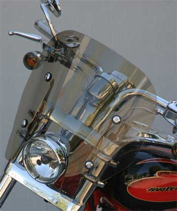 Rifle Quick Release Super Sport replacement windshield for FXDSE and H-D inverted fork kit