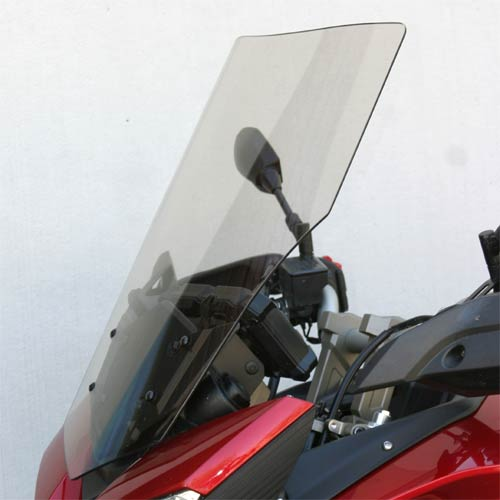 "Yamaha FJ09 Replacement Windshield +4"" Tall Light Gray TInt"