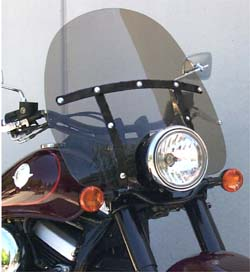 Rifle Classic Windshield for Kawasaki Drifter with Black Finish