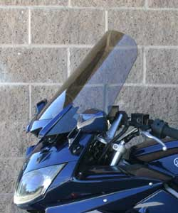 Rifle windshield for 2006 Yamaha FJR in down position