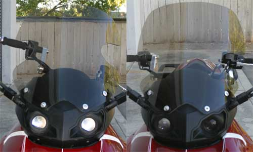Rifle has two versions of the replacement windshield for Can_Am Spyder