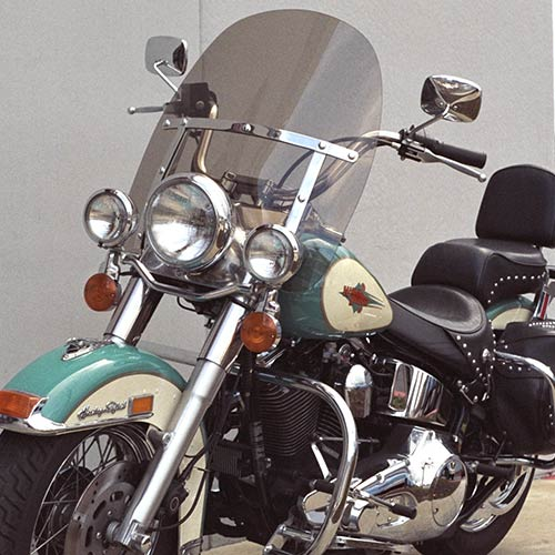 Harley Davidson Windshields >> King Size Heritage Flstc Fat Boy Flstf Replacement Windshield Rigid Mount