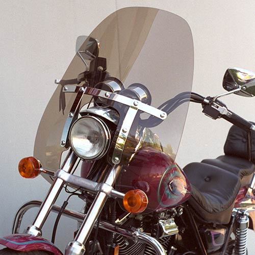 Convertible  FXRS-CONV FXDS-CONV  Replacement Windshield Medium Bronze Tint